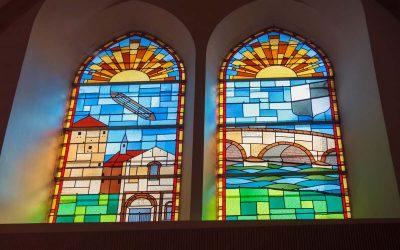 Les vitraux de l'ancienne chapelle rénovés